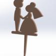 Télécharger plan imprimante 3D gatuit gâteau mariés et mariés, allv