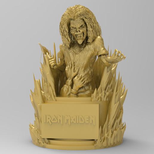 Download free STL file eddie iron maiden • 3D printable template, allv