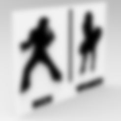 Download free 3D print files TOILET SIGN ELVIS AND MARILYN, allv