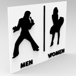 Descargar modelos 3D para imprimir TOILET SIGN ELVIS AND MARILYN, allv