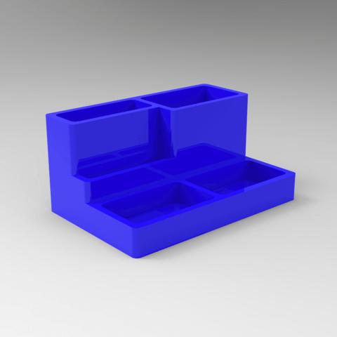 untitled.84.png Download free STL file desktop organizer / pen holder • 3D print object, allv