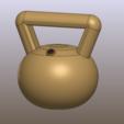 Download free 3D printer designs kettlebell or russian weight / pesa rusa, allv