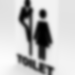 Download free 3D printer files TOILET SIGN, allv