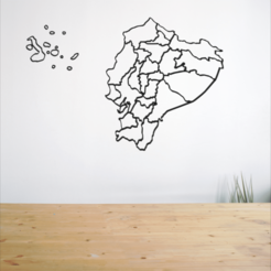 Free 3D print files Map of Ecuador, allv
