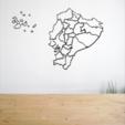 Télécharger STL gratuit Carte de l'Équateur, allv