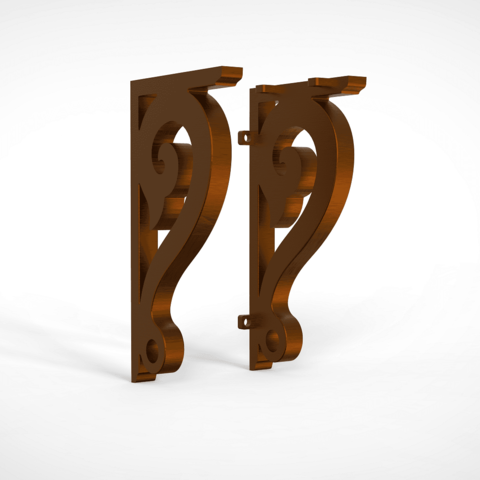 Download free 3D printer templates shelf bracket / wall bracket, allv
