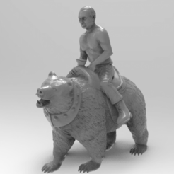Download free 3D printer designs putin on bear, allv