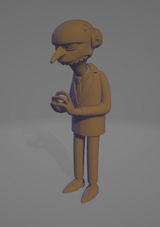 Capture.PNG Download free OBJ file montgomery burns • 3D printer template, allv