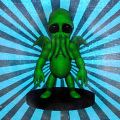 Download 3D printing models Cute Cthullu, wbayer