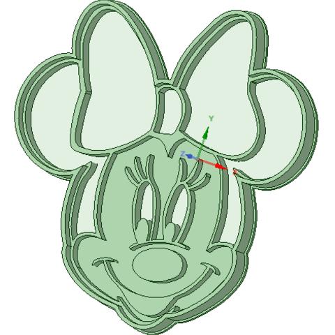 STL file Minnie cookie cutter, osval74