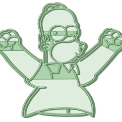 Homero 2_e.png Download STL file Homer 2 cookie cutter • 3D print template, osval74