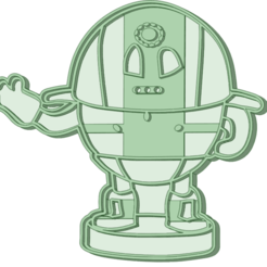 Robot 1_e.png Download STL file Robot 1 Cookie Cutter • 3D printer object, osval74