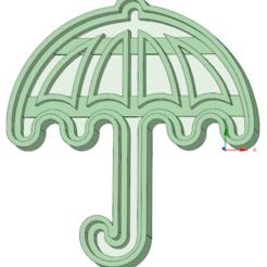 3D print model Cookie cutter umbrella, osval74