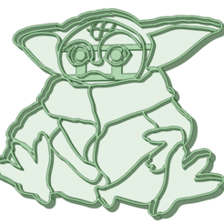 Download 3D printer model Baby Yoda cookie cutter, osval74