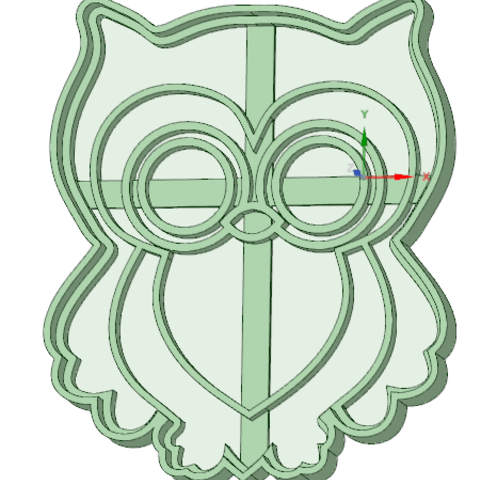 3D print files Owl 3 cookie cutter, osval74