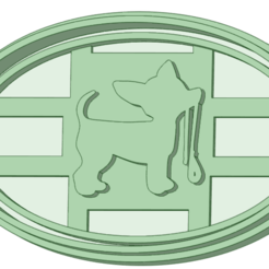 completo_1.png Download STL file Doggie 1 cookie cutter stamp • Template to 3D print, osval74