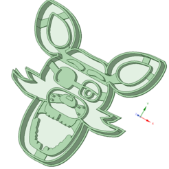 3D printer models Foxy cookie cutter, osval74