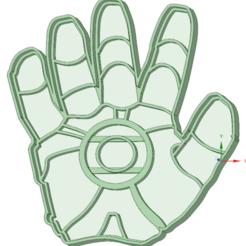 Fichier 3D Iron man emporte-pièce pour biscuits à la main, osval74