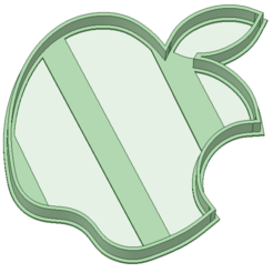 3D printing model Apple cookie cutter, osval74