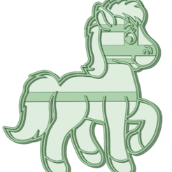 Pony_e.png Download STL file Pony Cookie Cutter • Object to 3D print, osval74