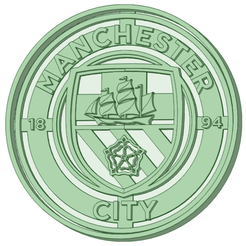 Manchester city.png Download STL file Manchester City cookie cutter • 3D printer object, osval74