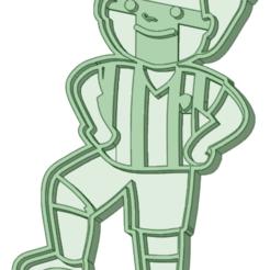 Niño_e.png Télécharger fichier STL Enfant footballeur à l'emporte-pièce • Design imprimable en 3D, osval74
