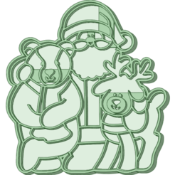 SOR_e.png Télécharger fichier STL L'emporte-pièce de l'ours et du renne • Design à imprimer en 3D, osval74