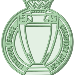 Copa_e.png Download STL file Liverpool league cup cookie cutter • 3D printer object, osval74