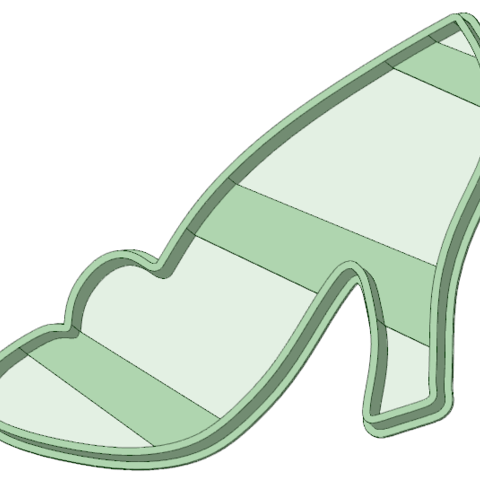 STL Princess shoes cookie cutter, osval74