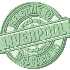 welcome_e.png Download STL file Welcome to Liverpool cookie cutter • Model to 3D print, osval74