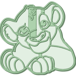 Download STL file Simba cookie cutter, osval74