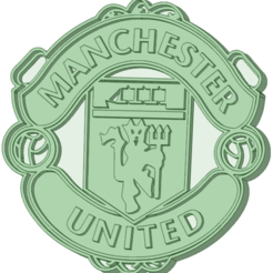 MU.png Download STL file Manchester United cookie cutter • Model to 3D print, osval74