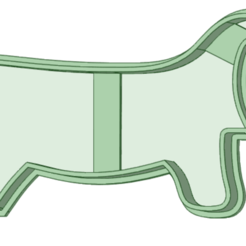 Salchicha 2_e.png Download STL file Dachshund 1 cookie cutter • 3D printer object, osval74