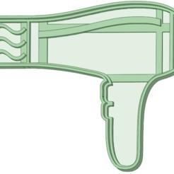 Descargar archivos 3D Secador de pelo cookie cutter, osval74