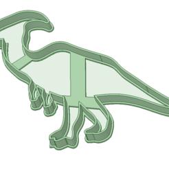 Download 3D printer model Parasaurolophus cookie cutter, osval74