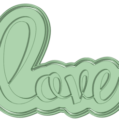 Love_e.png Download STL file Love embossed with Valentine's Day cutter • 3D printing object, osval74