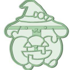 Download 3D printing templates Pom Pom Purin Halloween cookie cutter, osval74