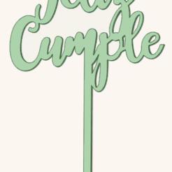 Download STL Happy birthday cake topper, osval74