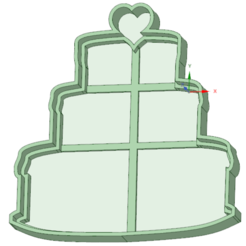 3D printer files Birthday cake with heart cookie cutter, osval74