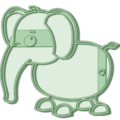 Elephant_e.png Download STL file Elephant cookie cutter • 3D printable object, osval74