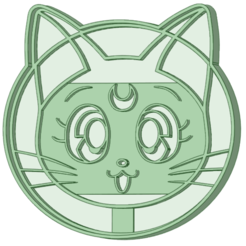 Download 3D printing templates Sailor Moon 2 cookie cutter, osval74