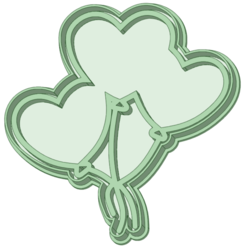 3_e.png Download STL file Balloons hearts cookie cutter • 3D printer design, osval74