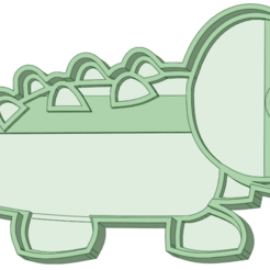 Aligator_e.png Download STL file Crocodile Cookie Cutter • 3D printable template, osval74