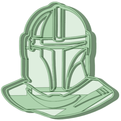 Mandalorian_e.png Download STL file The Mandalorian 1 cookie cutter • Design to 3D print, osval74