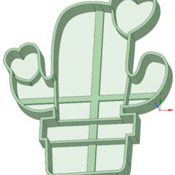 3D print model Cactus 9 cookie cutter, osval74