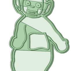 1_e.png Download STL file Teletubbies 1 whole cookie cutter • 3D printer model, osval74