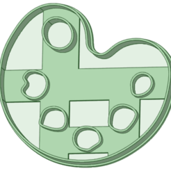 Paleta_e.png Download STL file Palette painter cookie cutter • 3D printing design, osval74