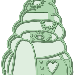 MDN_e.png Download STL file Snowman 4 cookie cutter • Model to 3D print, osval74