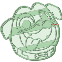 STL files Puppy dog face cookie cutter, osval74