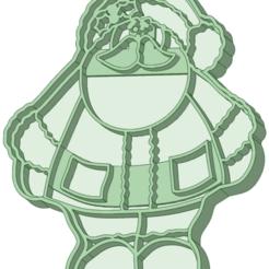 Santa_e.png Download STL file Santa 3 cookie cutter • 3D printing design, osval74